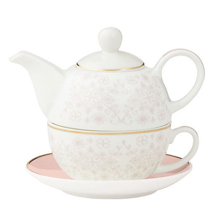 Willow Nestled Teapot and Cup Set by Davis & Waddell