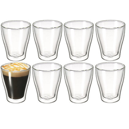 Avanti Modena Twin Wall Glass 250ml Set of 8