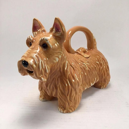 Golden Scottish Terrier Teapot by Blue Sky Ceramics