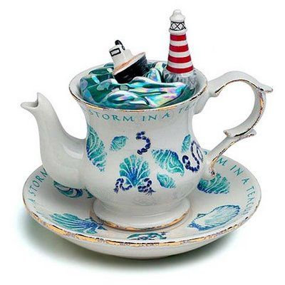 Storm in a Teacup - actually a teacup and saucer