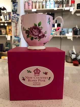 Royal Albert New Country Roses Pink Vintage Mug - 300ml