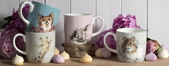 Royal Worchester Wrendale Colour Mugs - 4 Animal Styles - 400ml