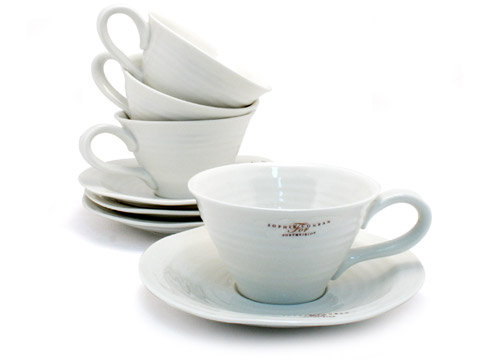 Sophie Conran Portmeirion Teacup and Saucer set of 4