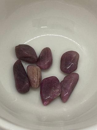 Pink Tourmaline Tumbles - Extra Small