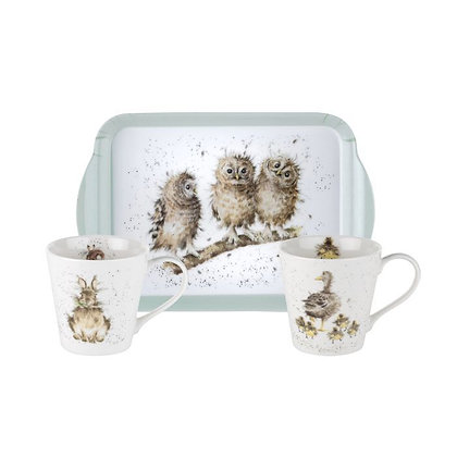 Royal Worcester Wrendale Mug & Tray Set
