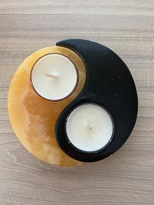 Onyx and Orange Calcite Tealight Holder