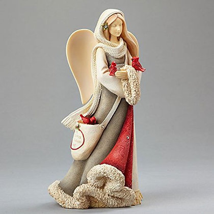 Christmas Angel with Cardinals
