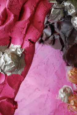 Pink, Purple, Sliver: Mixed Media 2010