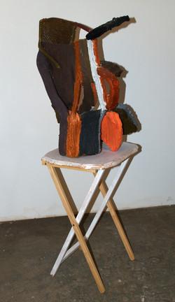 Orange, Black, and Brown, 1.5x2