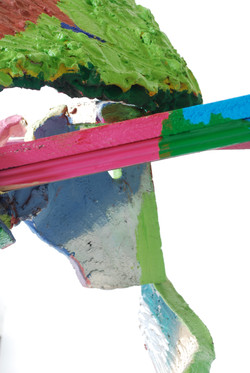 Close Up of Green, Blue, and Pink: 2010