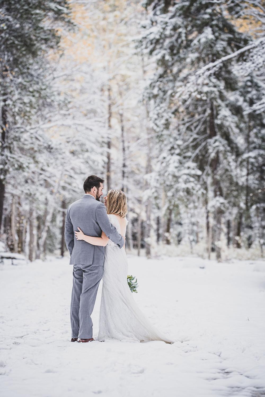 Montana winter elopement photographer