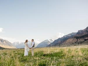 Stunning Mountain Views at Wyoming Destination Wedding   Cody, Wyoming