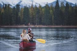 Seeley Lake, Montana - Canoeing Engagement Photography