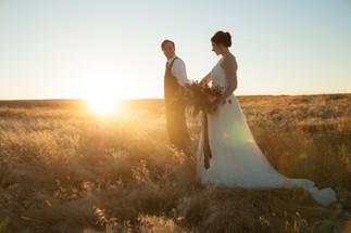Golden hour elopement