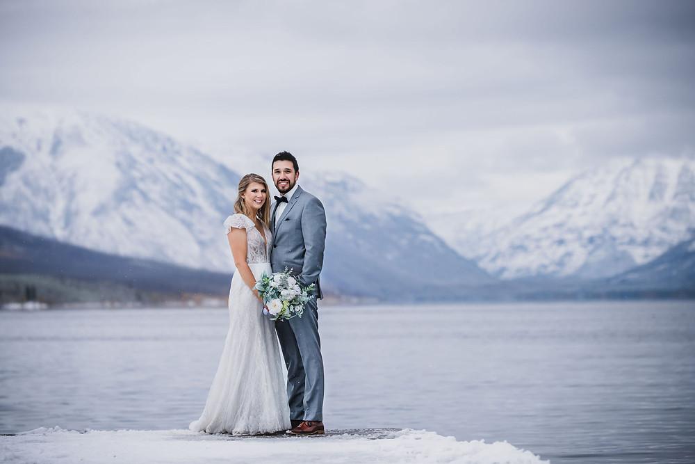 Winter Glacier National Park elopement