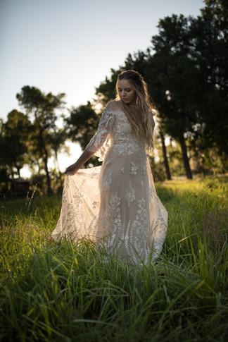 Bride at golden hour