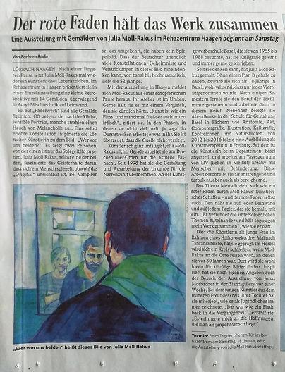 Badische Zeitung 2020.01.17. Ausstellung