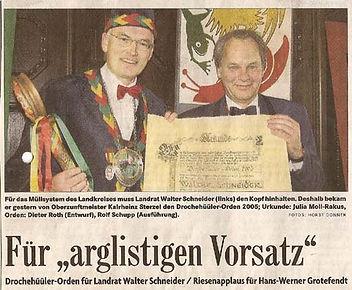 Drochehüüler_2005_-_Landrat_Schneider.