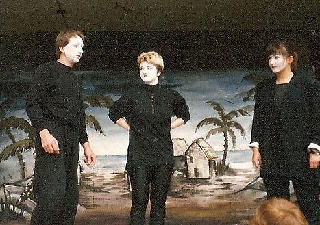 Theaterstück auf dem Rathausplatz Aussch