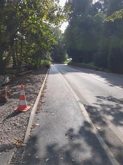 Création d'un trottoir à Blonay