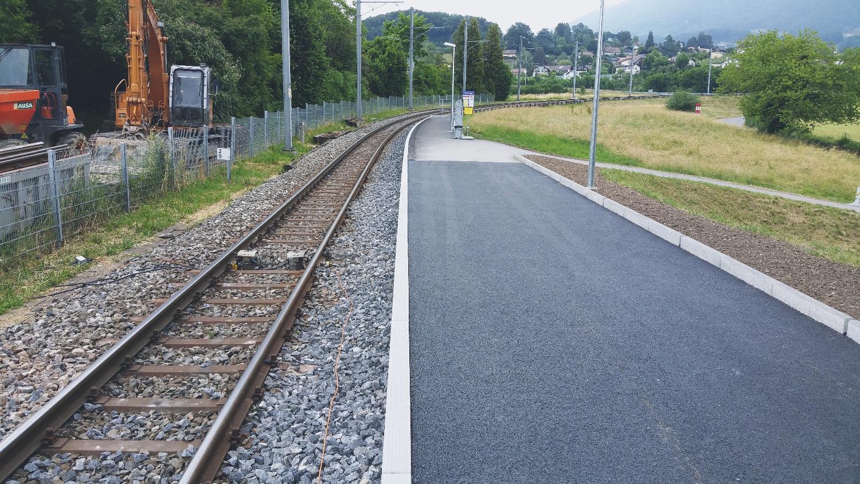 Réhaussement de haltes ferroviaires