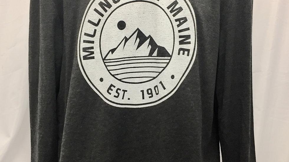 Millinocket Maine Hoodie; Grey