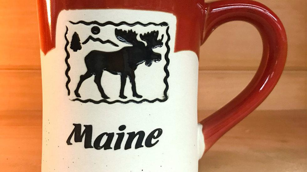 Moose Stamp Maine