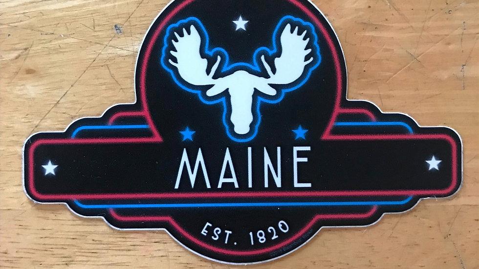 Maine Moosehead Decal