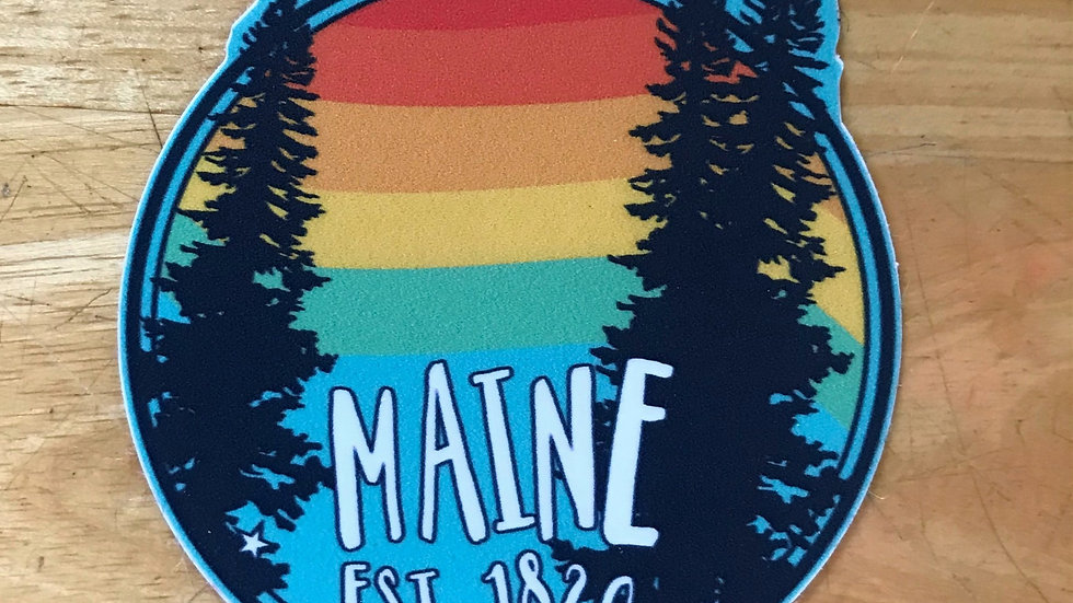 Maine Est. 1820 Decal/ small