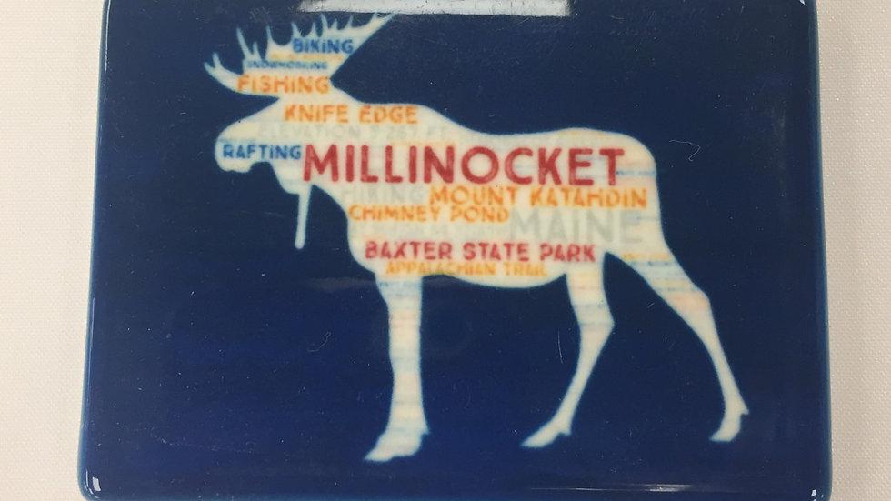 Millinocket Moose Magnet Cobalt