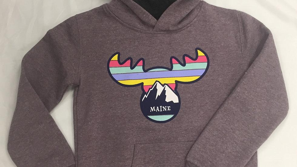 Moose & Mountain Purple Youth