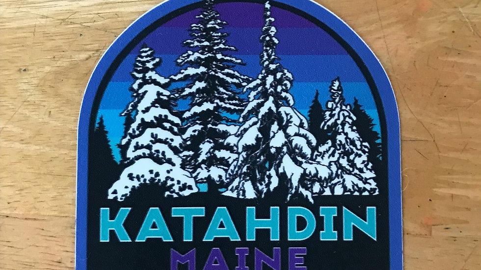 Katahdin Snowey Pines Decal