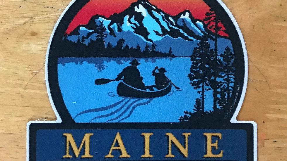 Maine Est. 1820 The Lake Decal