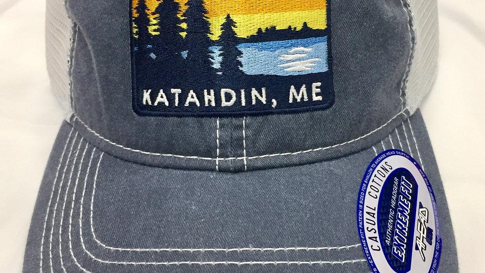 Katahdin Maine Faded Blue