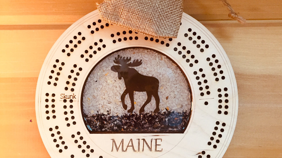 Miane Shellware Moose Cribbage/ Brown