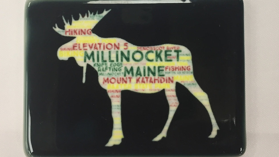 Millinocket Moose Magnet Black