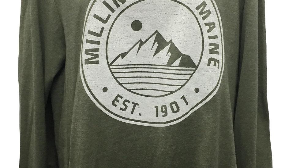 Millinocket Maine Hoodie; Sage Green