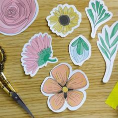 Spring Floral Die Cuts