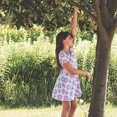 80s Imspired Floral Dress