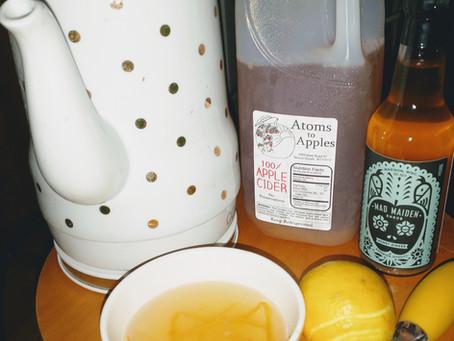 Making a seasonal Farmer's Market drink: Hot Toddy Shrub