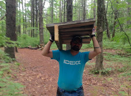 Volunteers from Idexx assist with Ted Wells Trail project