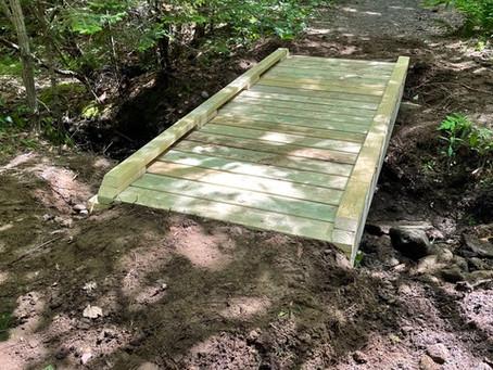Footbridge replacement on Atlantic Way Trail
