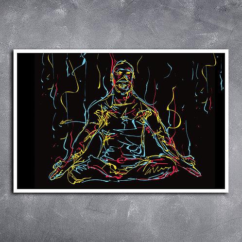 Quadro Yoga Lotus