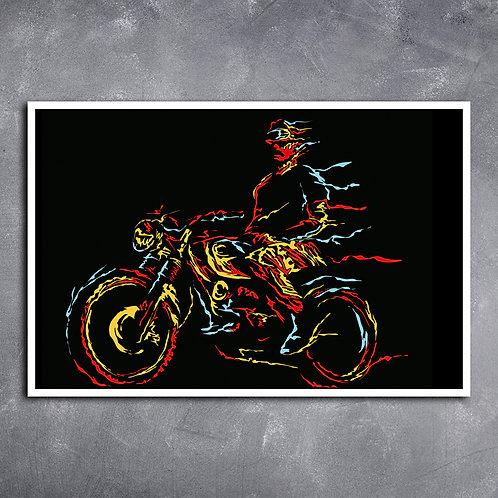 Quadro Motociclista Old School