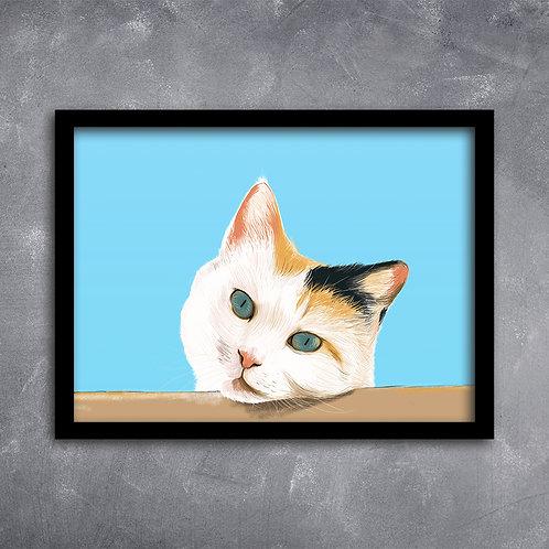 Quadro Gato na Cerca