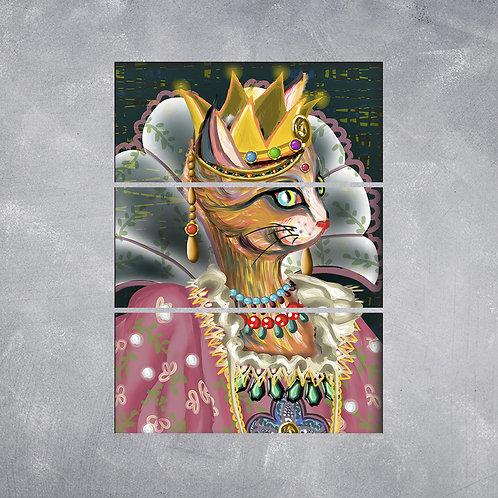 Quadro Gato Rainha