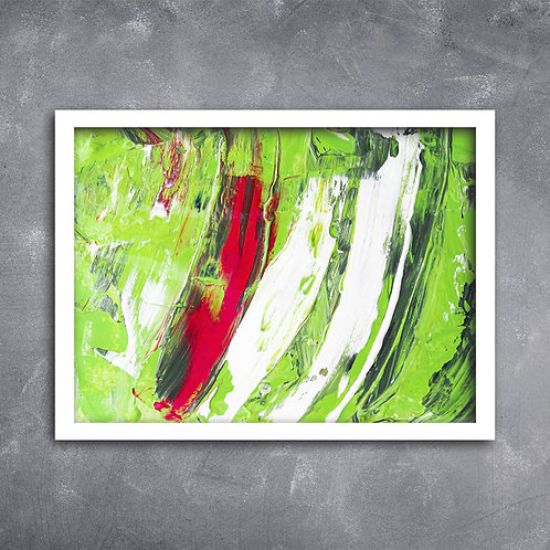 Quadro Textura Predominante Verde