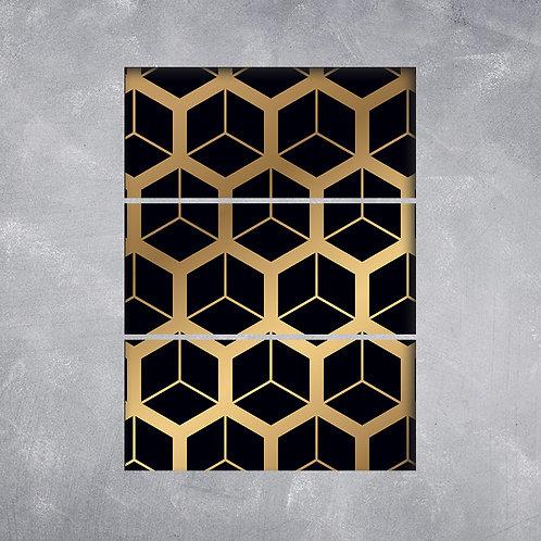 Quadro Colmeia Dourada