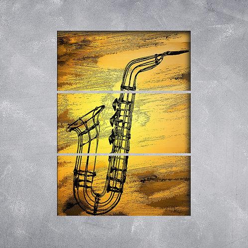 Quadro Saxofe Grafitti