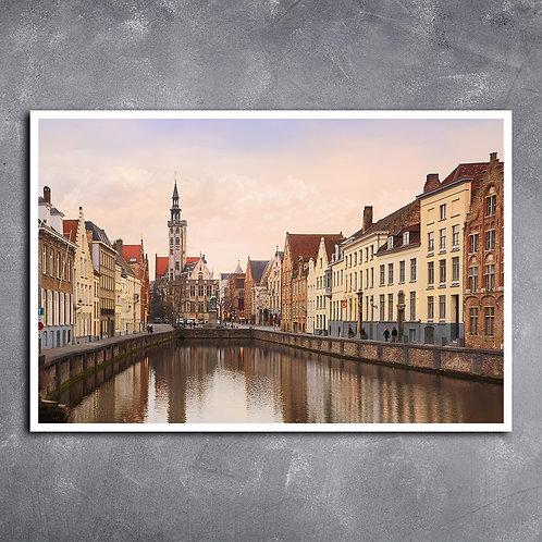 Quadro Panorama Brugge Bélgica